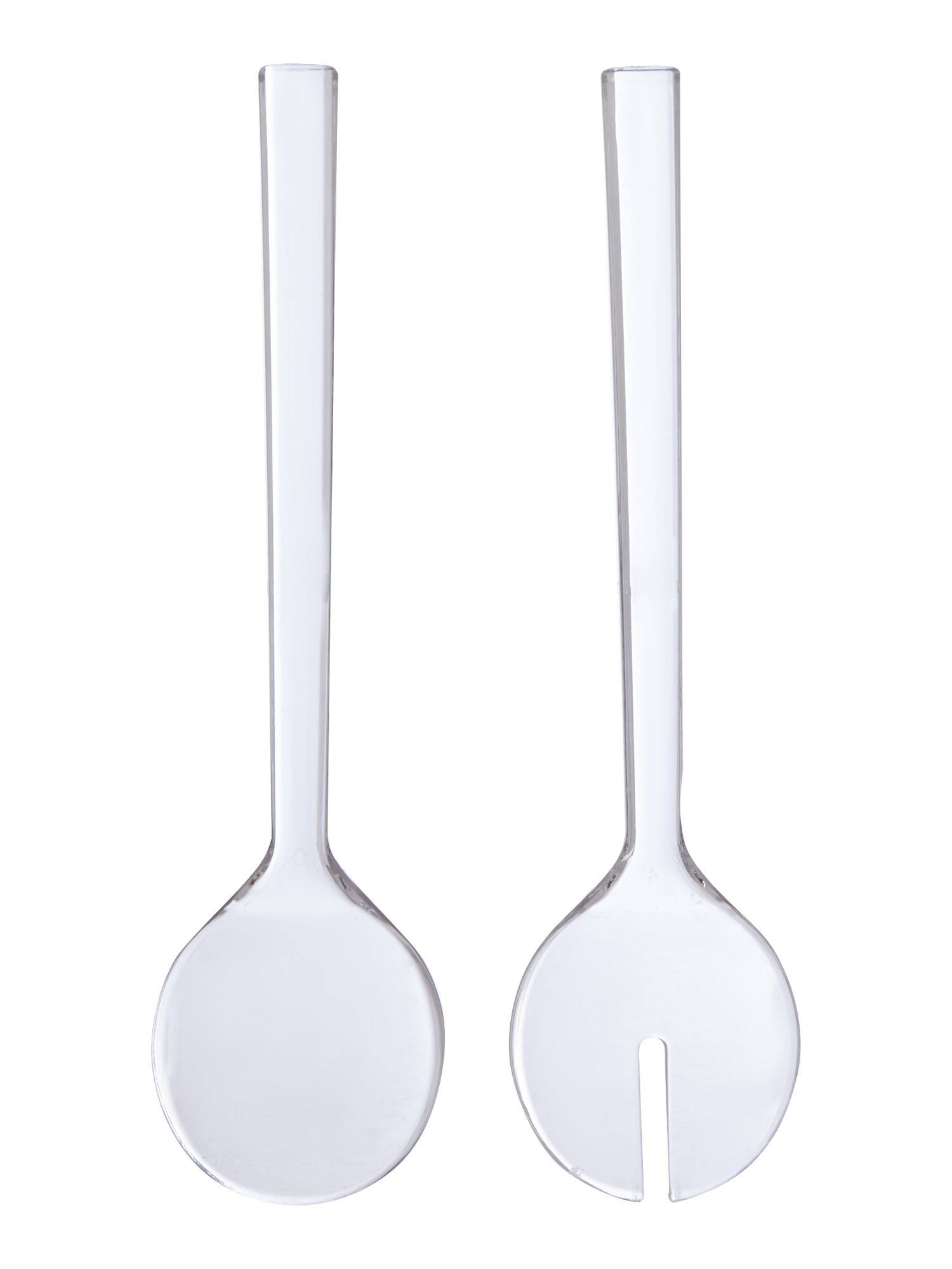 Honeycomb acrylic salad servers