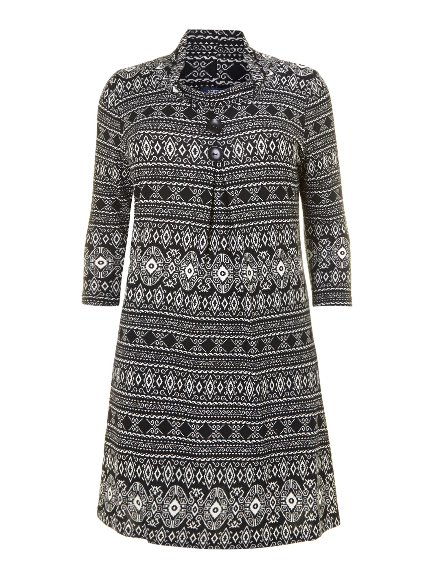Fairisle knit A line dress