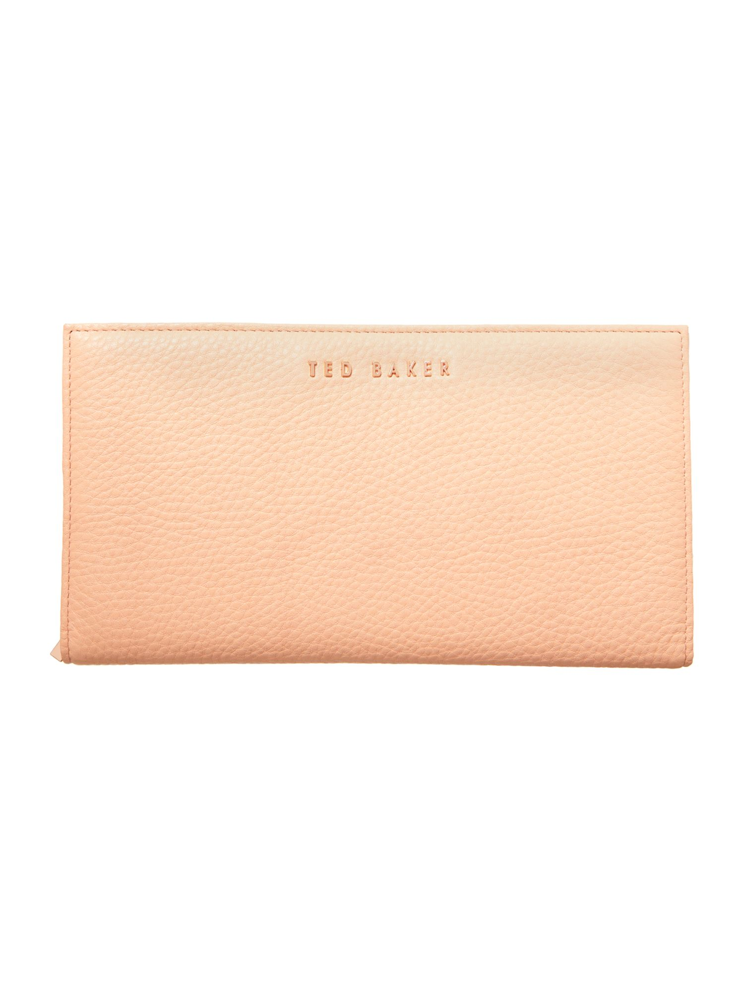 Orange leather travel purse