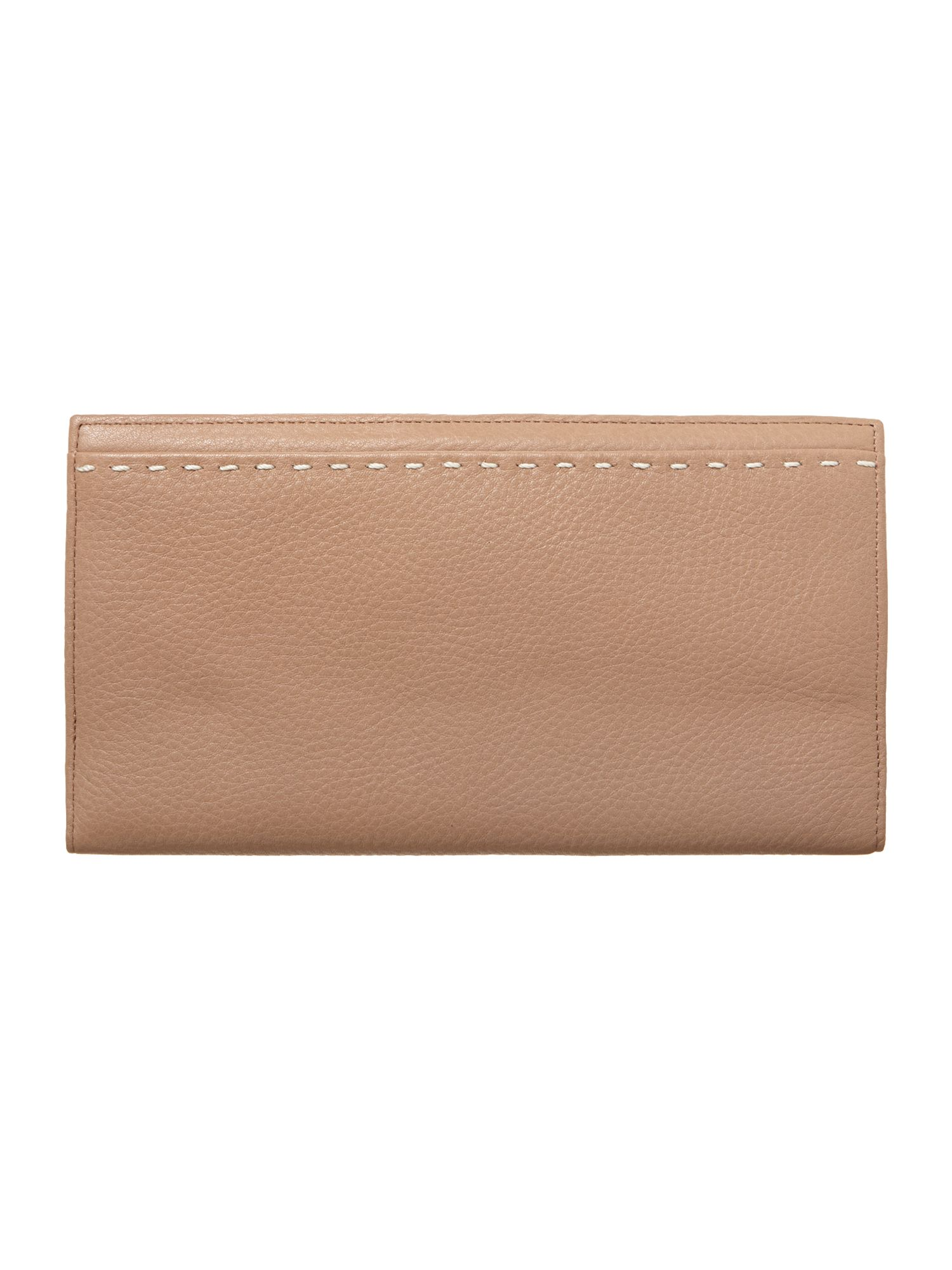 Neutral leather travel purse