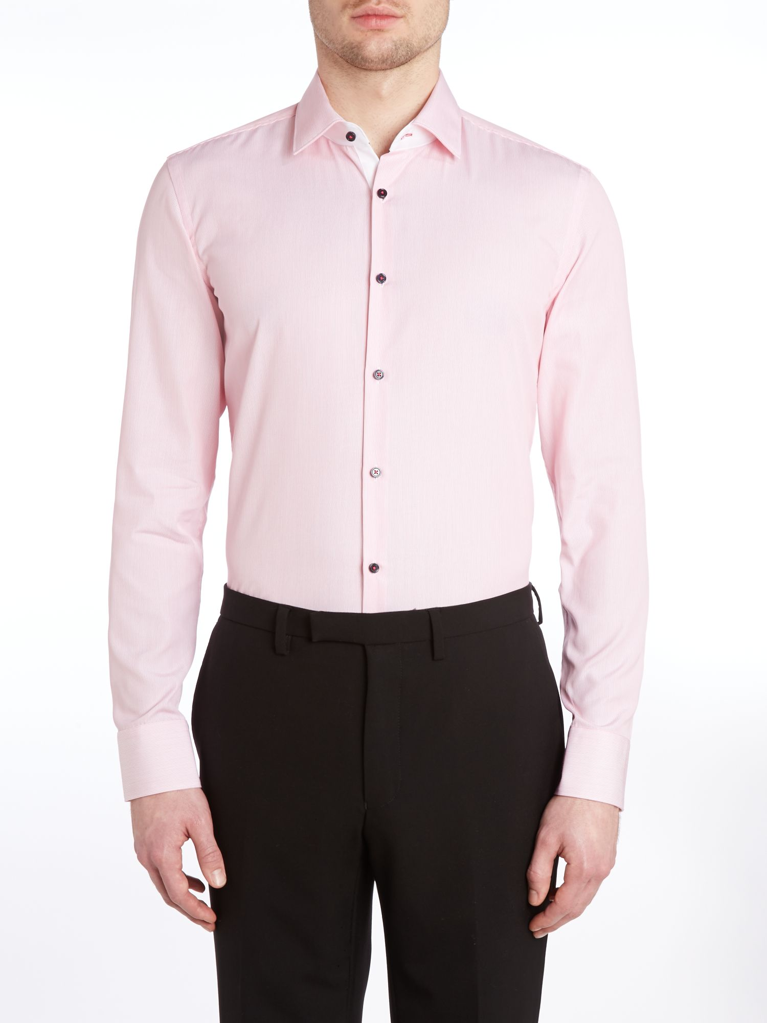 Juri slim fit thin stripe shirt