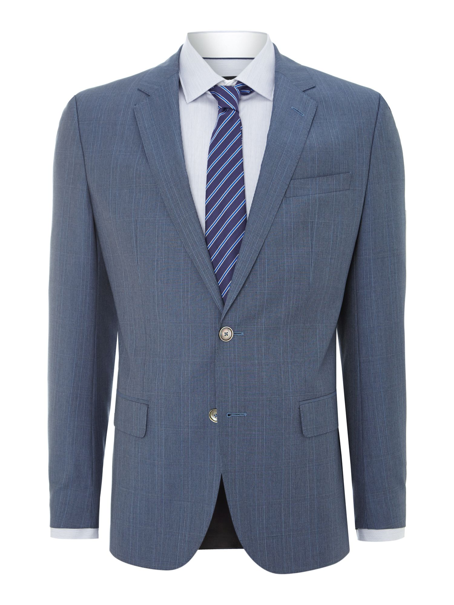 Hutson Gander slim fit PrinceofWales check suit