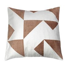 Niemeyer opaque print cushion in taupe 55x55cm