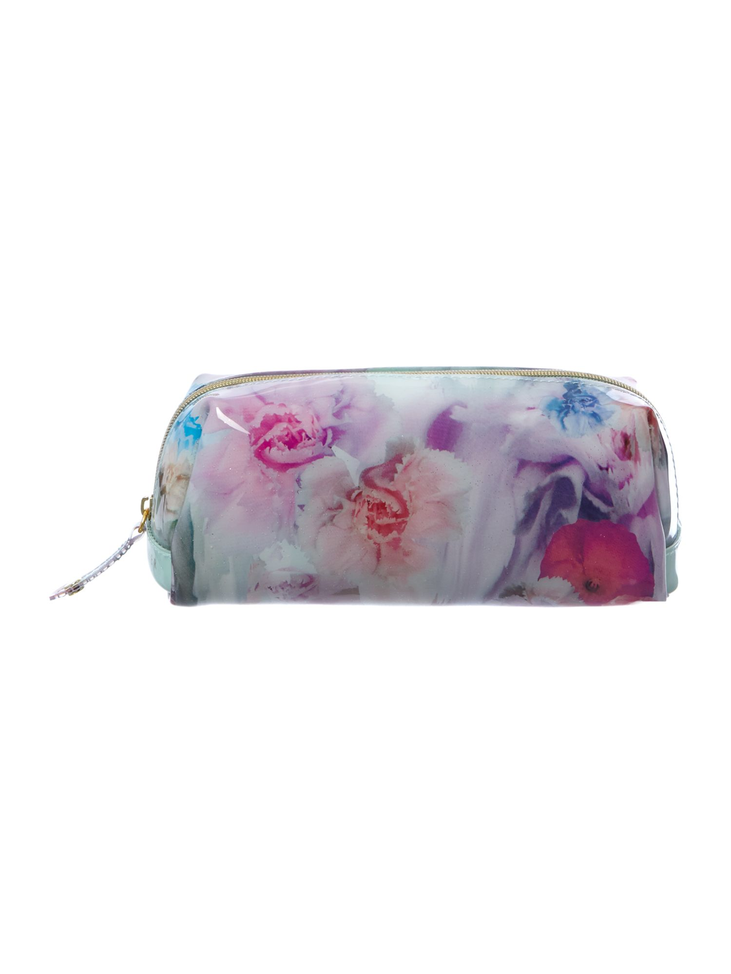 Small multi coloured cosmetic bag