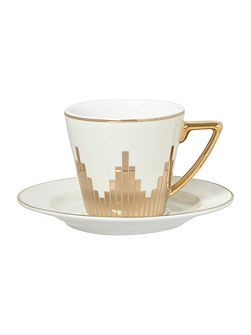 Starburst espresso cup and saucer