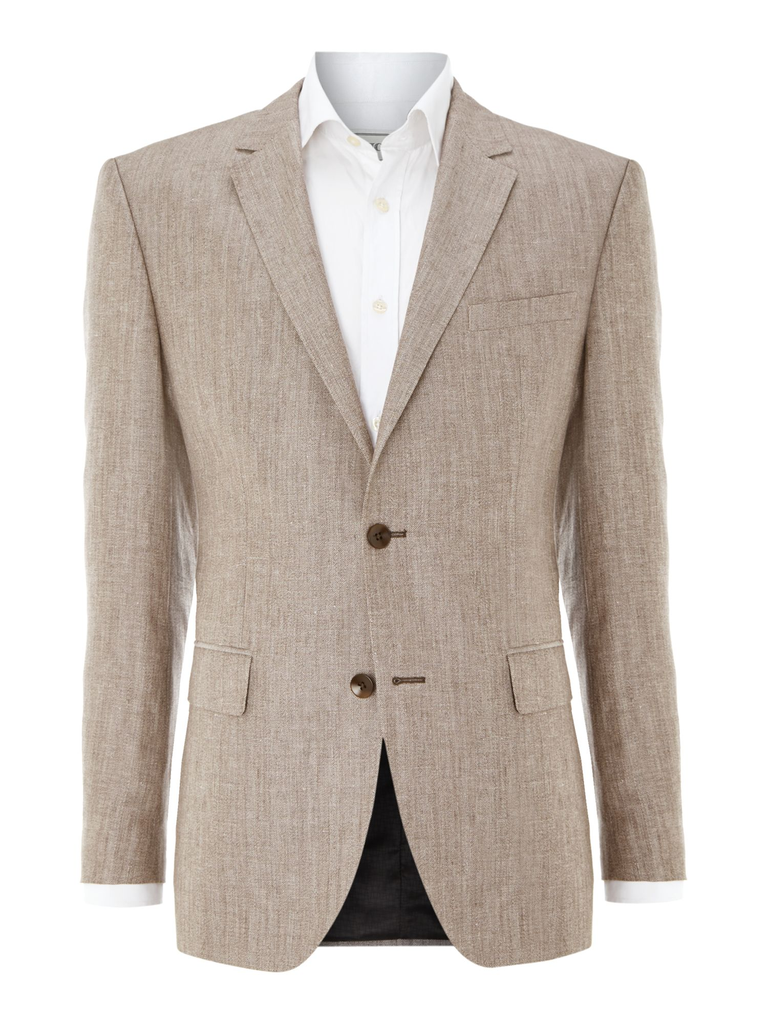 The Keys regular fit herringbone jacket