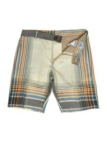 Stripe check crossover shorts