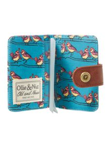 Blue bird print card holder