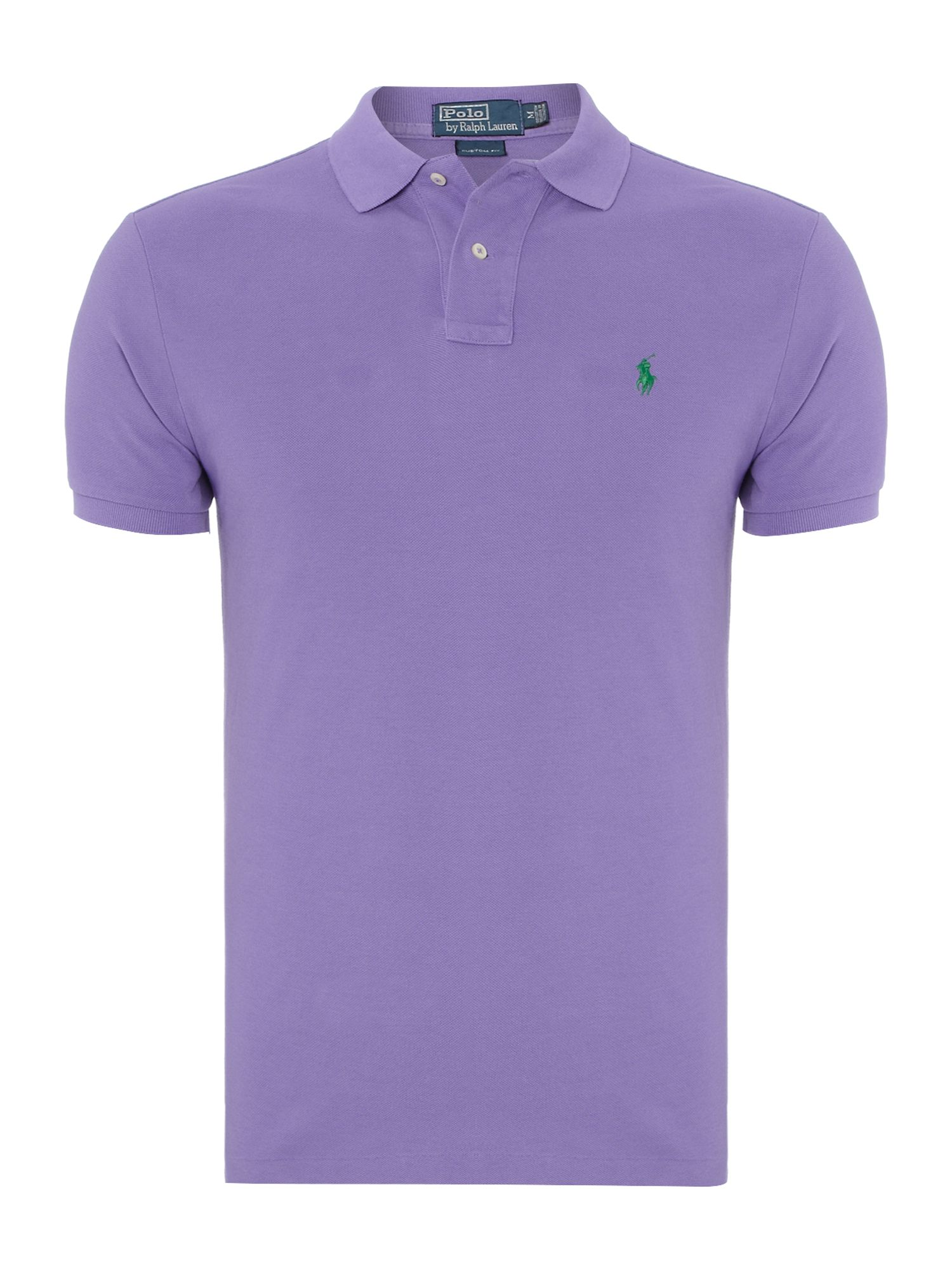 Custom fit mesh polo shirt
