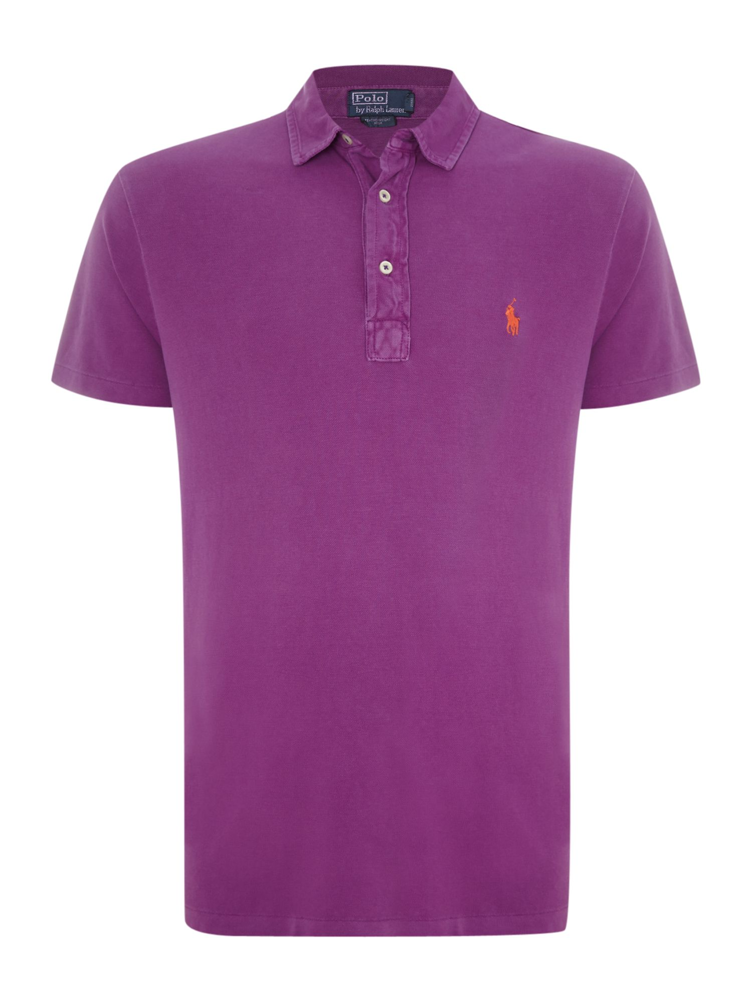 custom fit end placket polo shirt