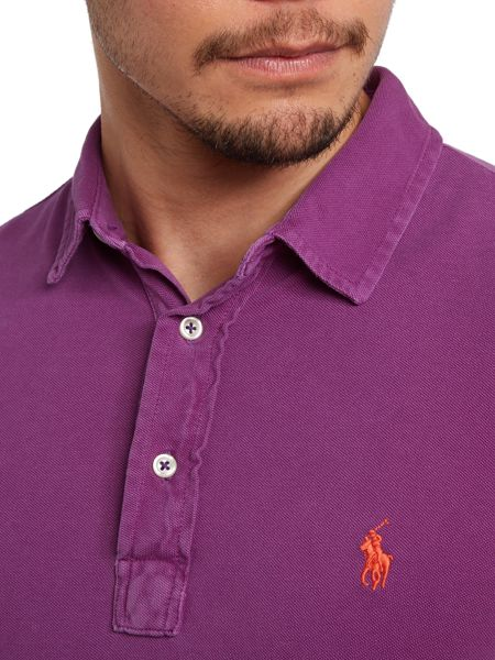Polo Ralph Lauren custom fit end placket polo shirt