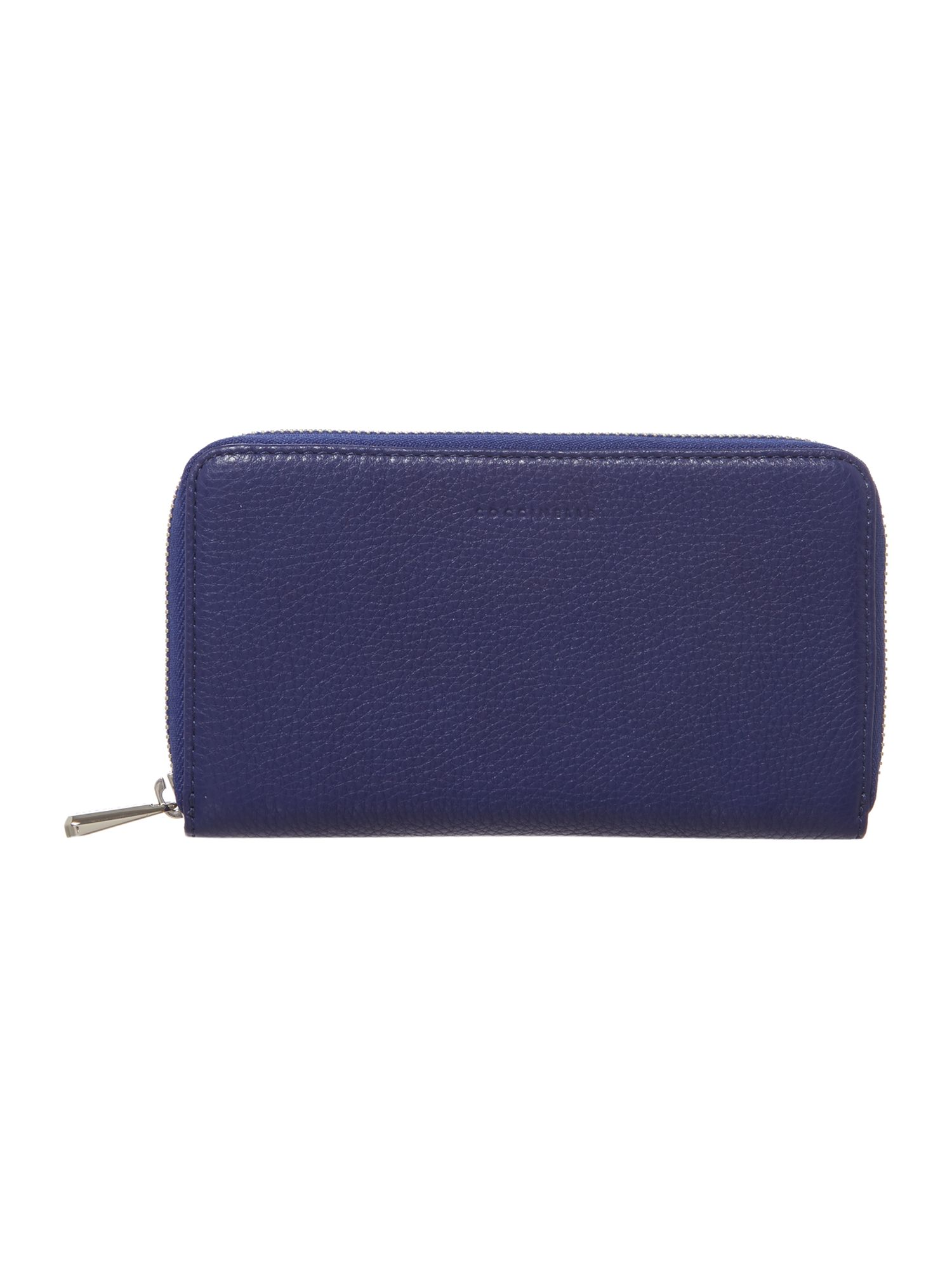 Blue large zip around purse