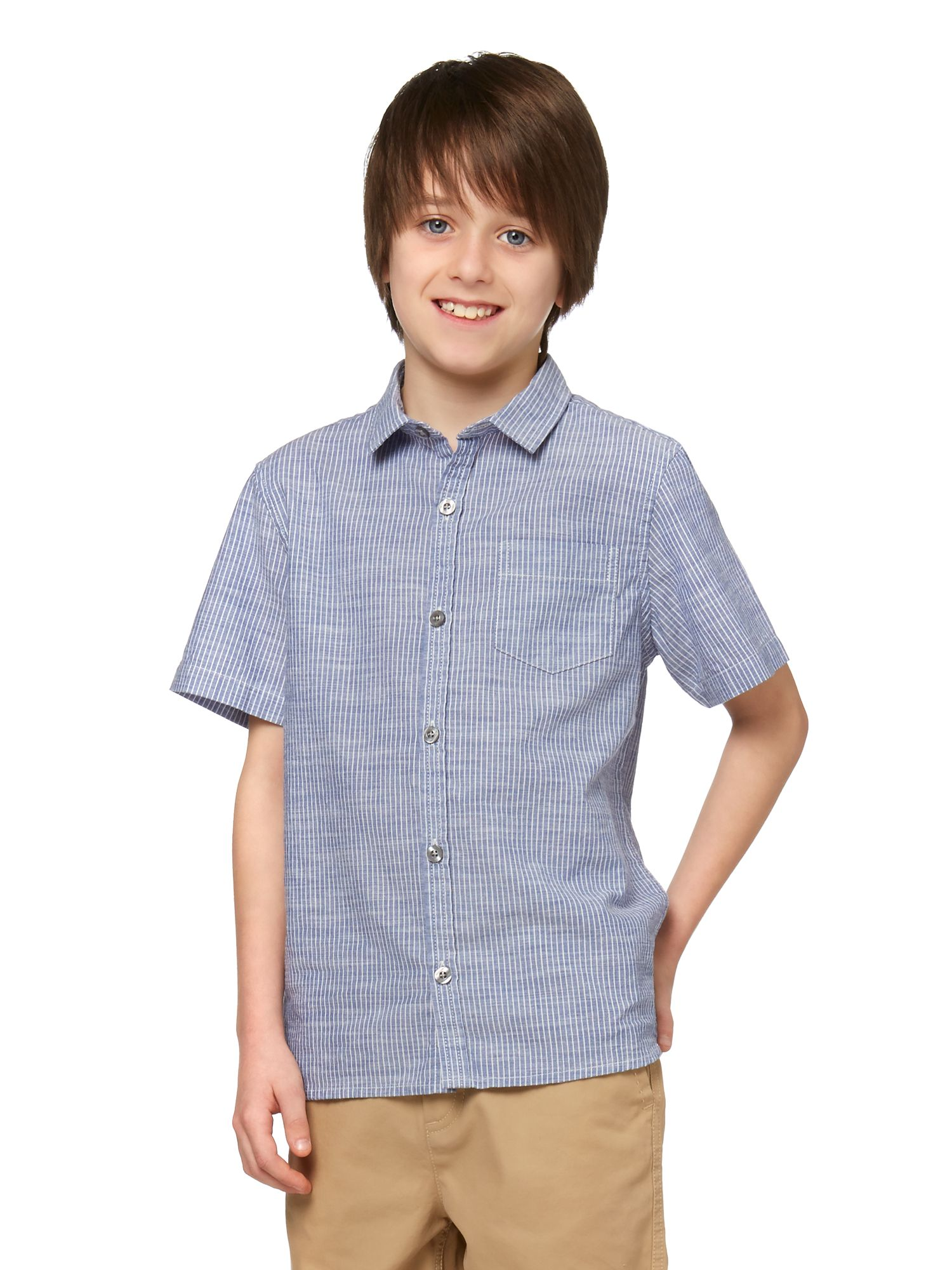 Boys slub stripe shirt