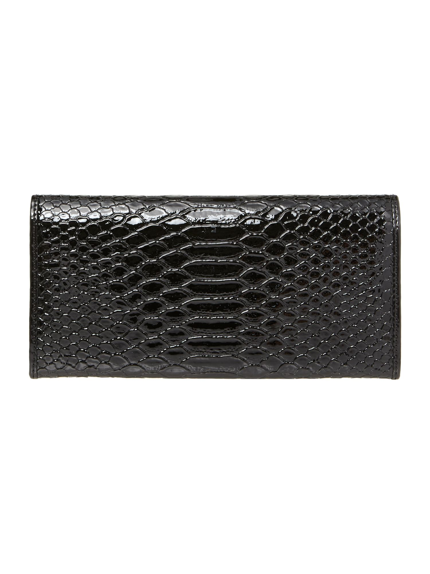 Frilly Snake large black flap over purse