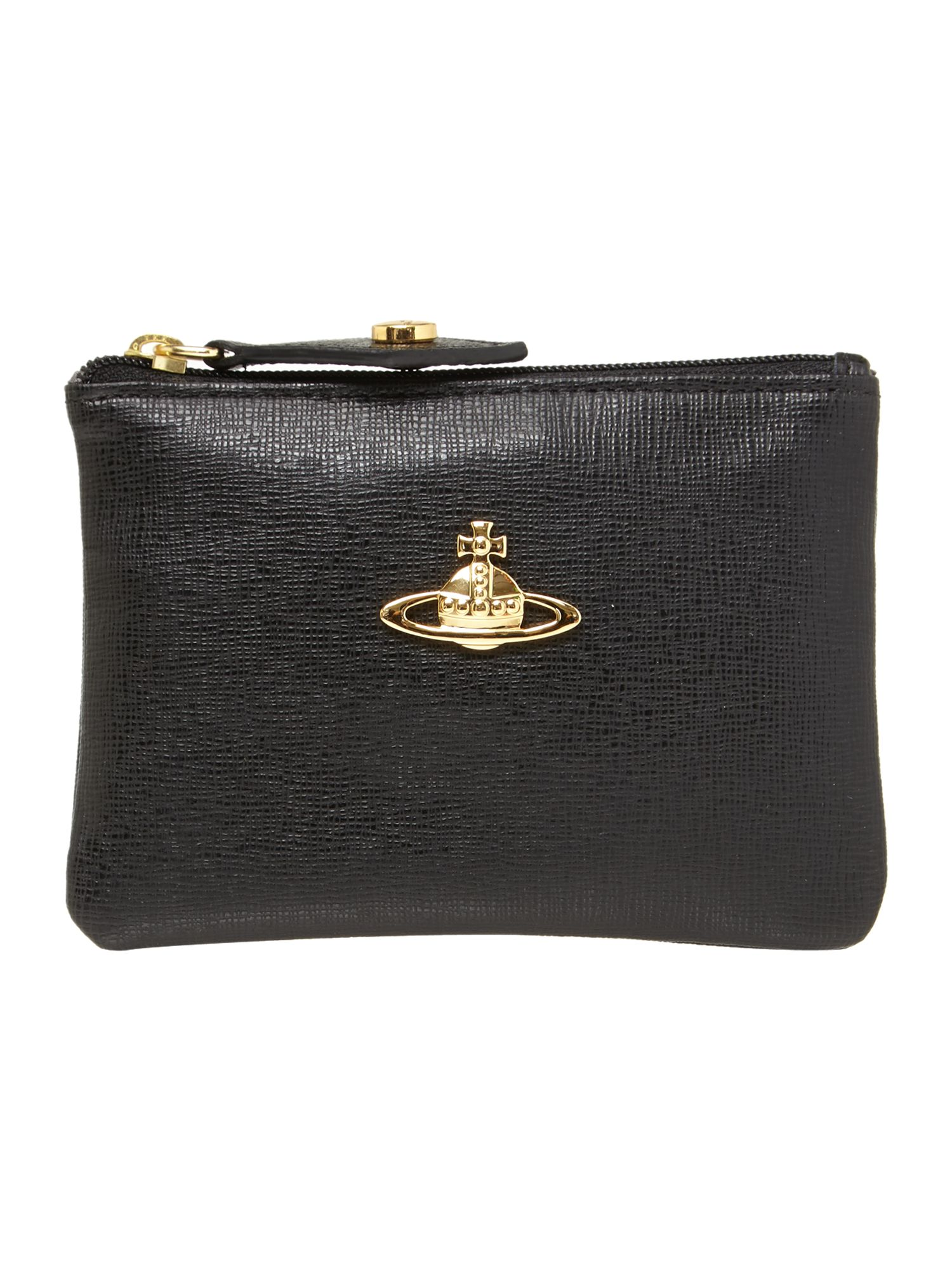 Saffiano black coin purse