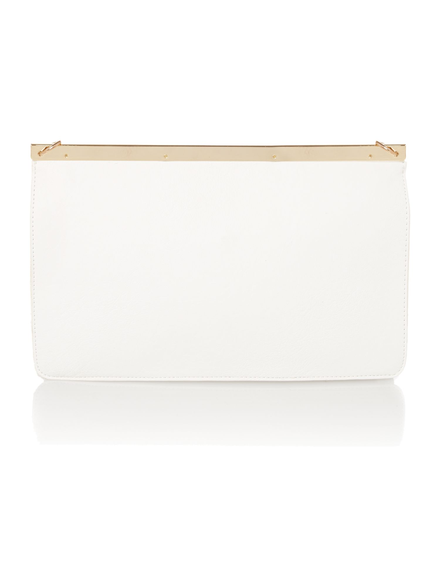 White small clutch bag