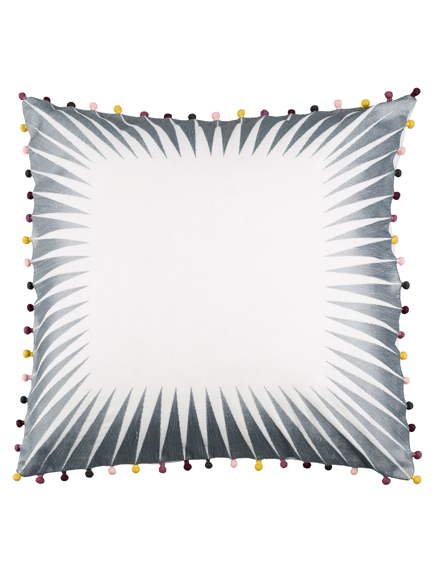 Optical cushion in dove grey on white 50x50cm