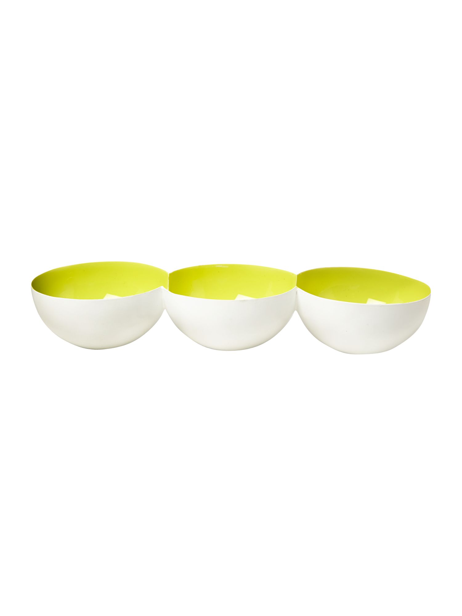 Lime enamel chip and dip trio