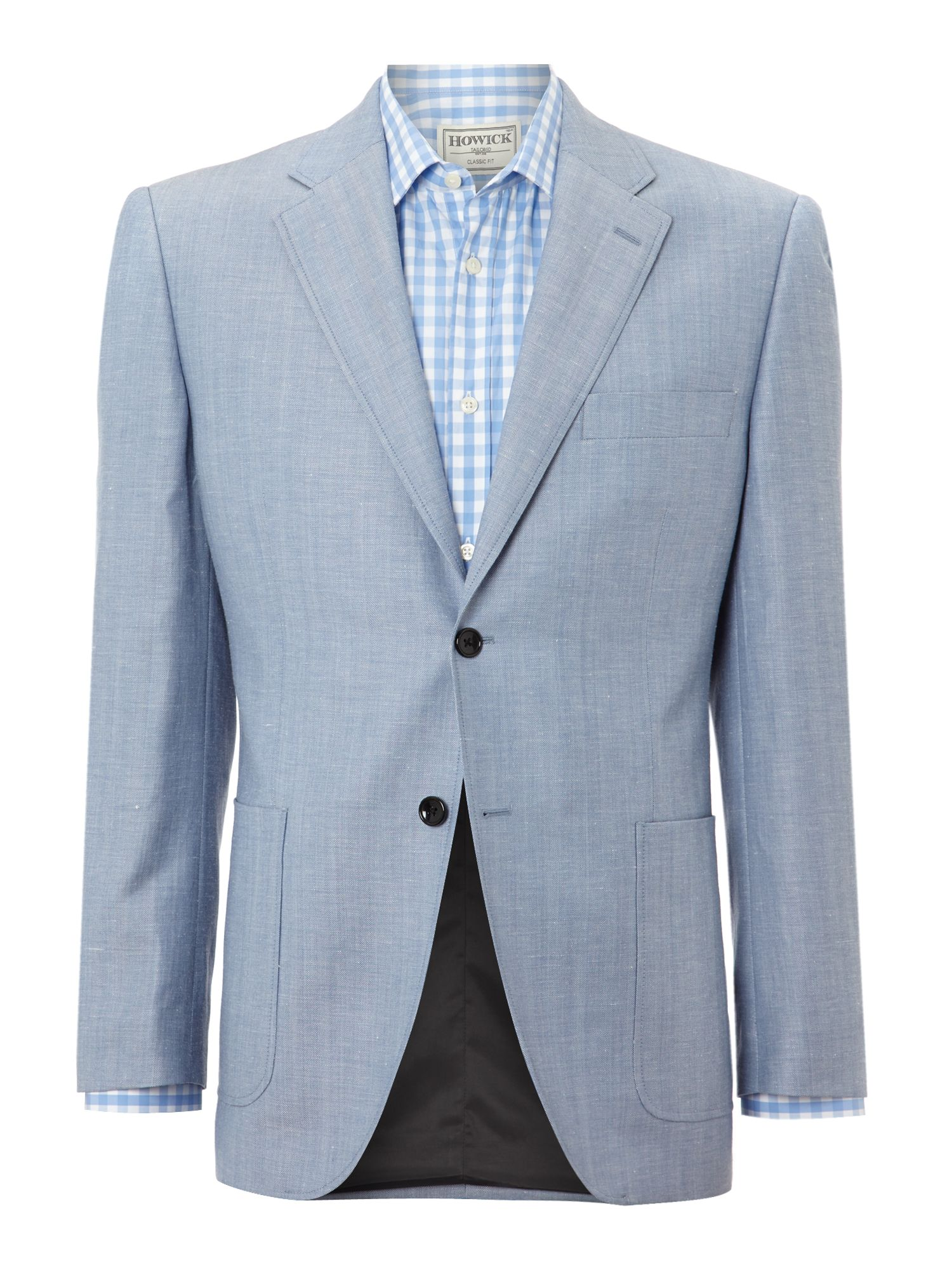 Nache Patch Pocket Herringbone Blazer
