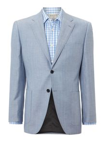 Howick Tailored Nache Patch Pocket Herringbone Blazer