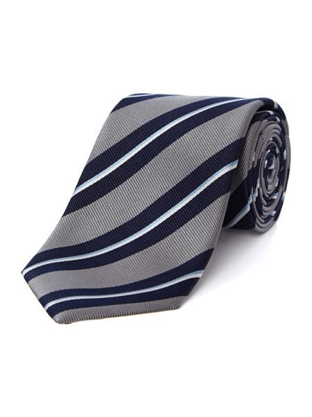 Hugo Boss College stripe slim tie