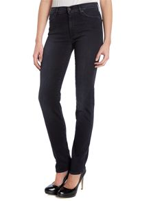 Rozie high-rise slim jeans in Jet Black