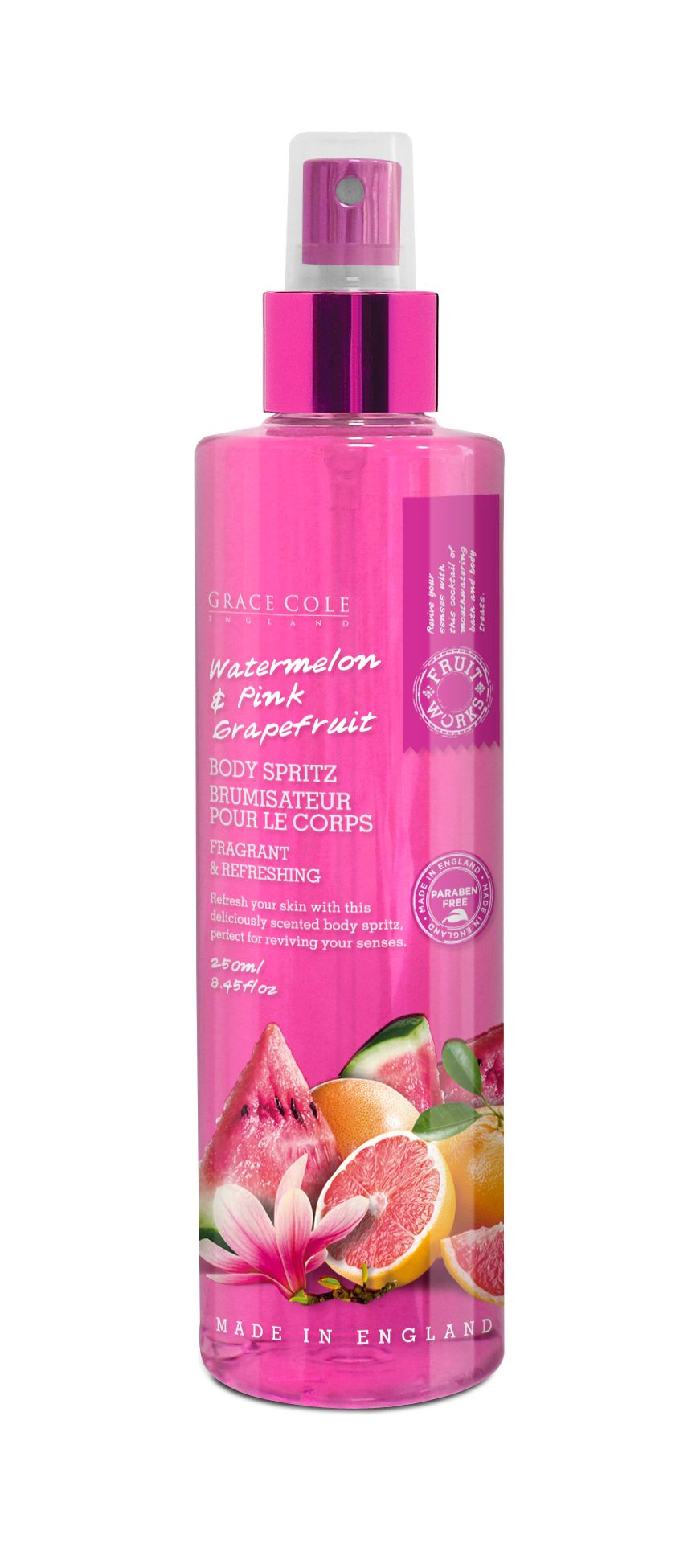 Watermelon & Pink Grapefruit Body Spritz 250ml