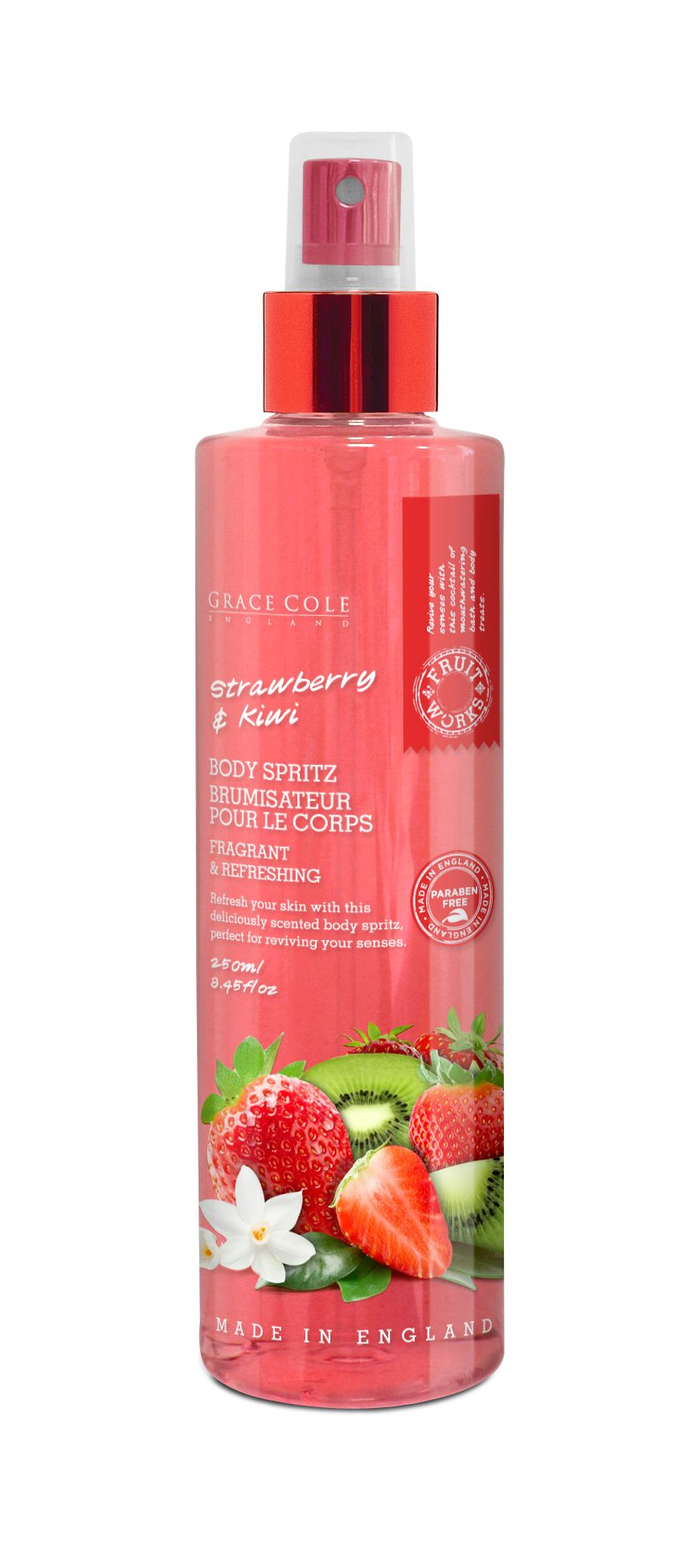 Strawberry & Kiwi Body Spritz 250ml