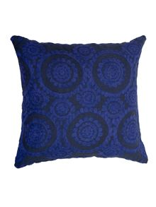 Medina cushion in indigo and french navy 60x60cm