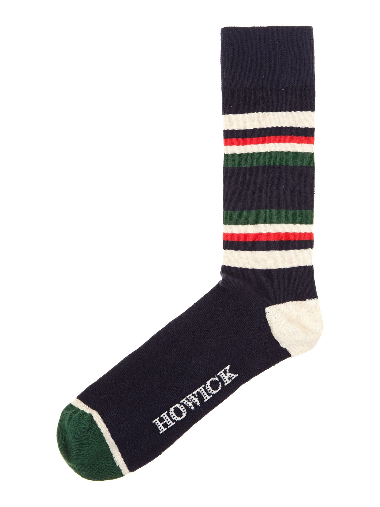 2 pack ecru stripe socks