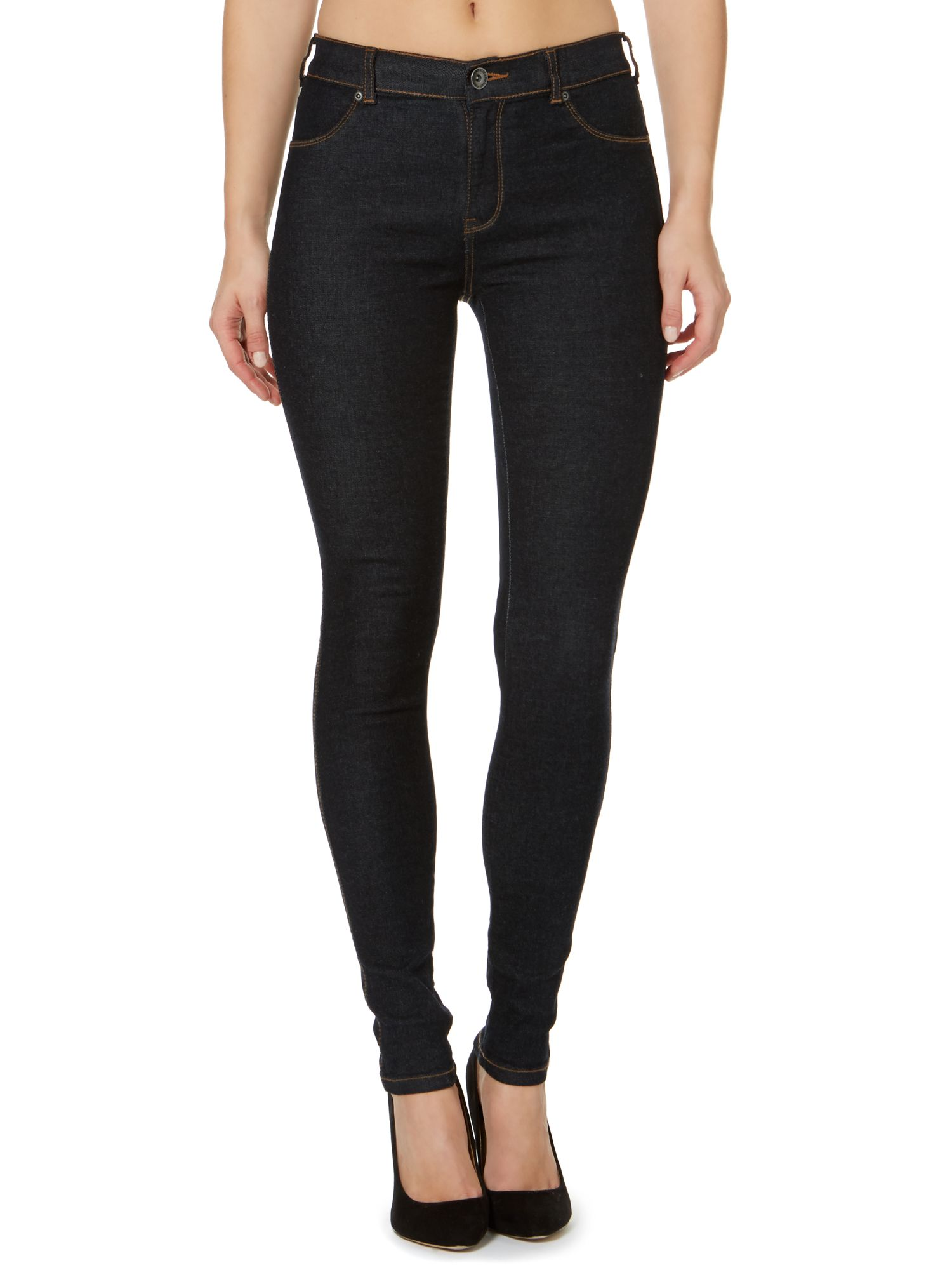 Plenty high-rise skinny jeans in Rinsed Blue