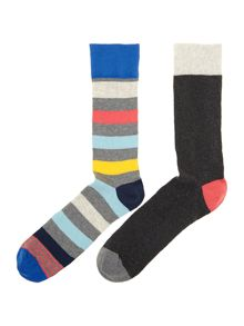 2 pack candy stripe socks