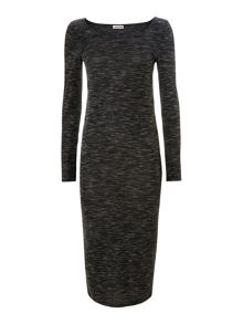 Long sleeve bodycon ankle dress