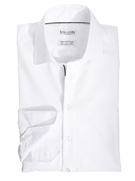 Staunton Moods Classic snow slim fit long sleeve shirt