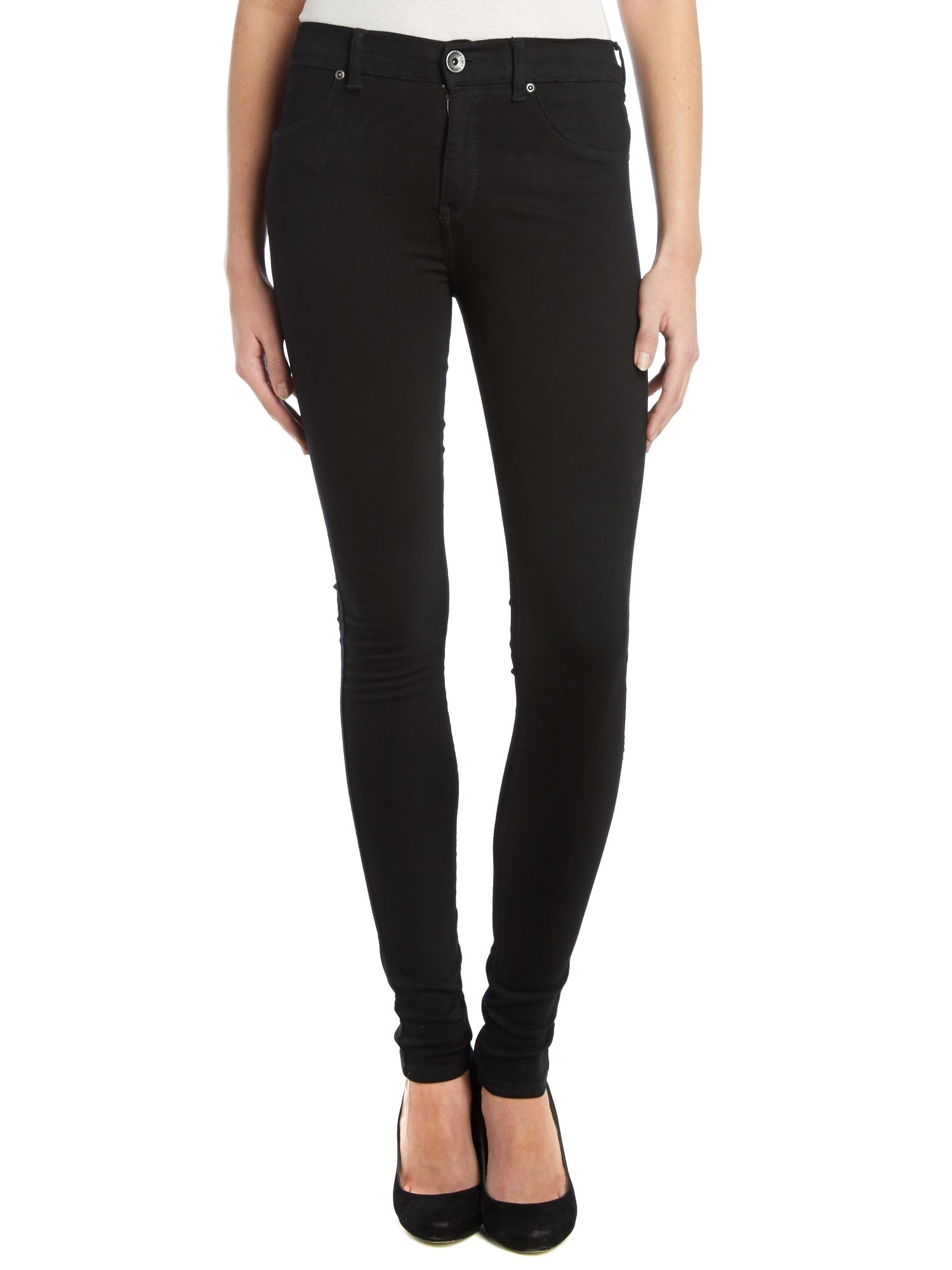 Plenty high-rise skinny jeans in Black