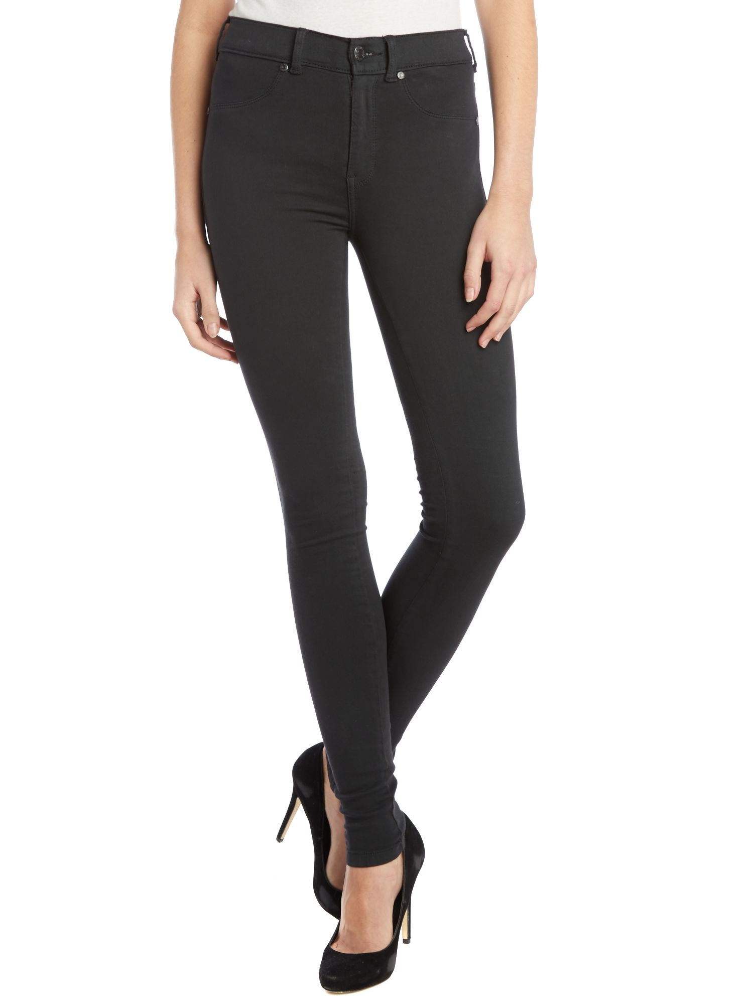 Plenty high-rise skinny jeans in Dark Grey
