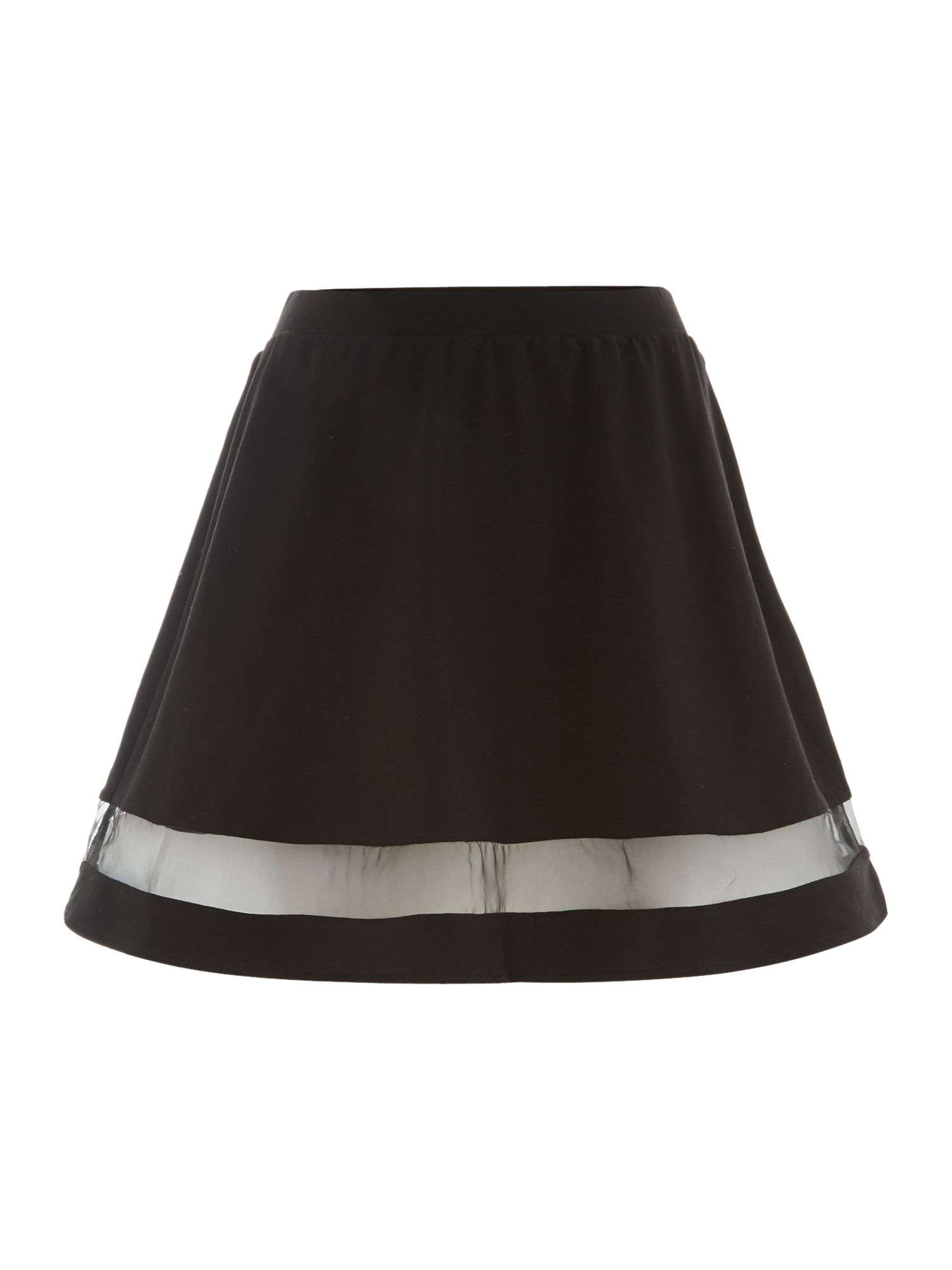 Sheer skirt panelled skirt