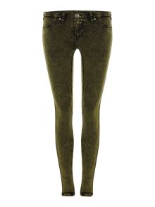 Kissy skinny jeans in Olive Acid