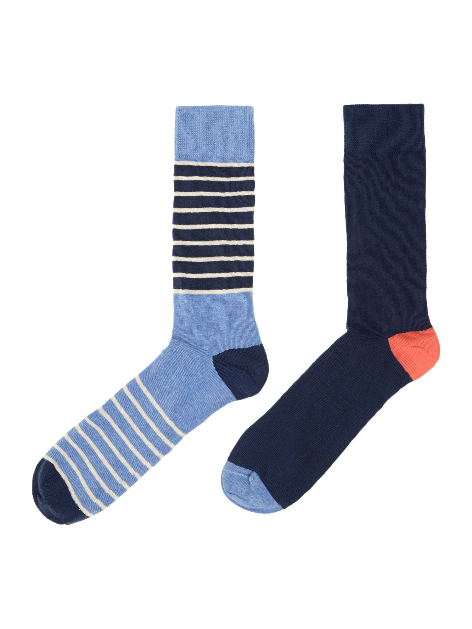 2 pack block stripe socks