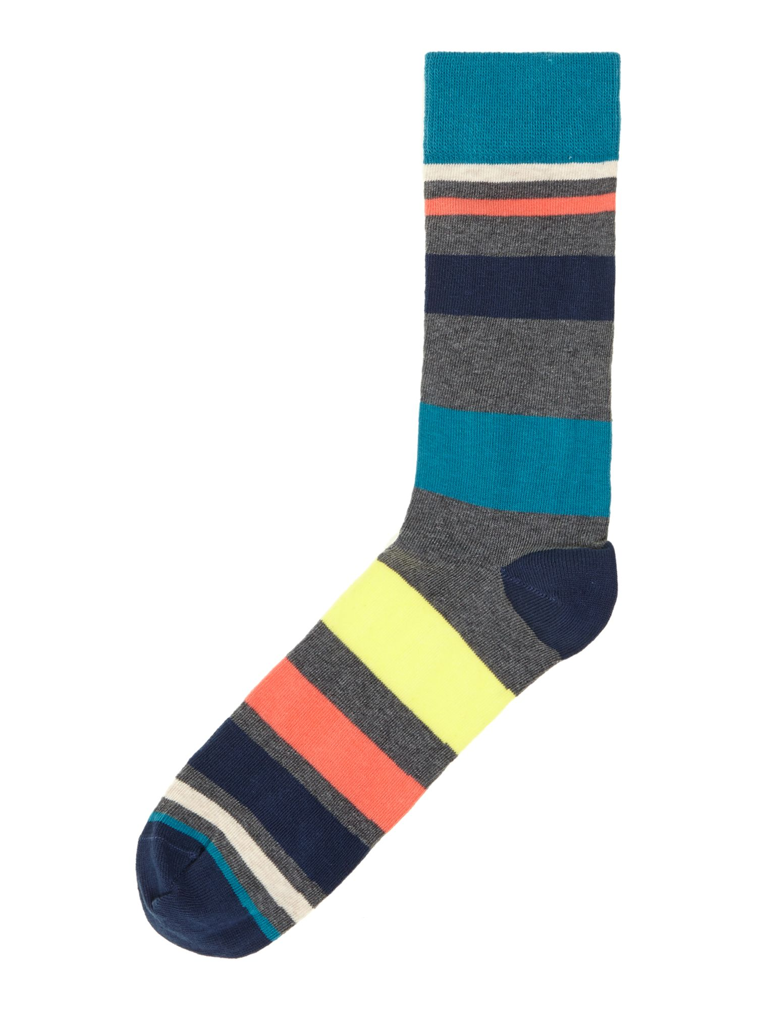 2 pack teal stripe socks