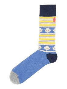 2 pack Aztec stripe socks
