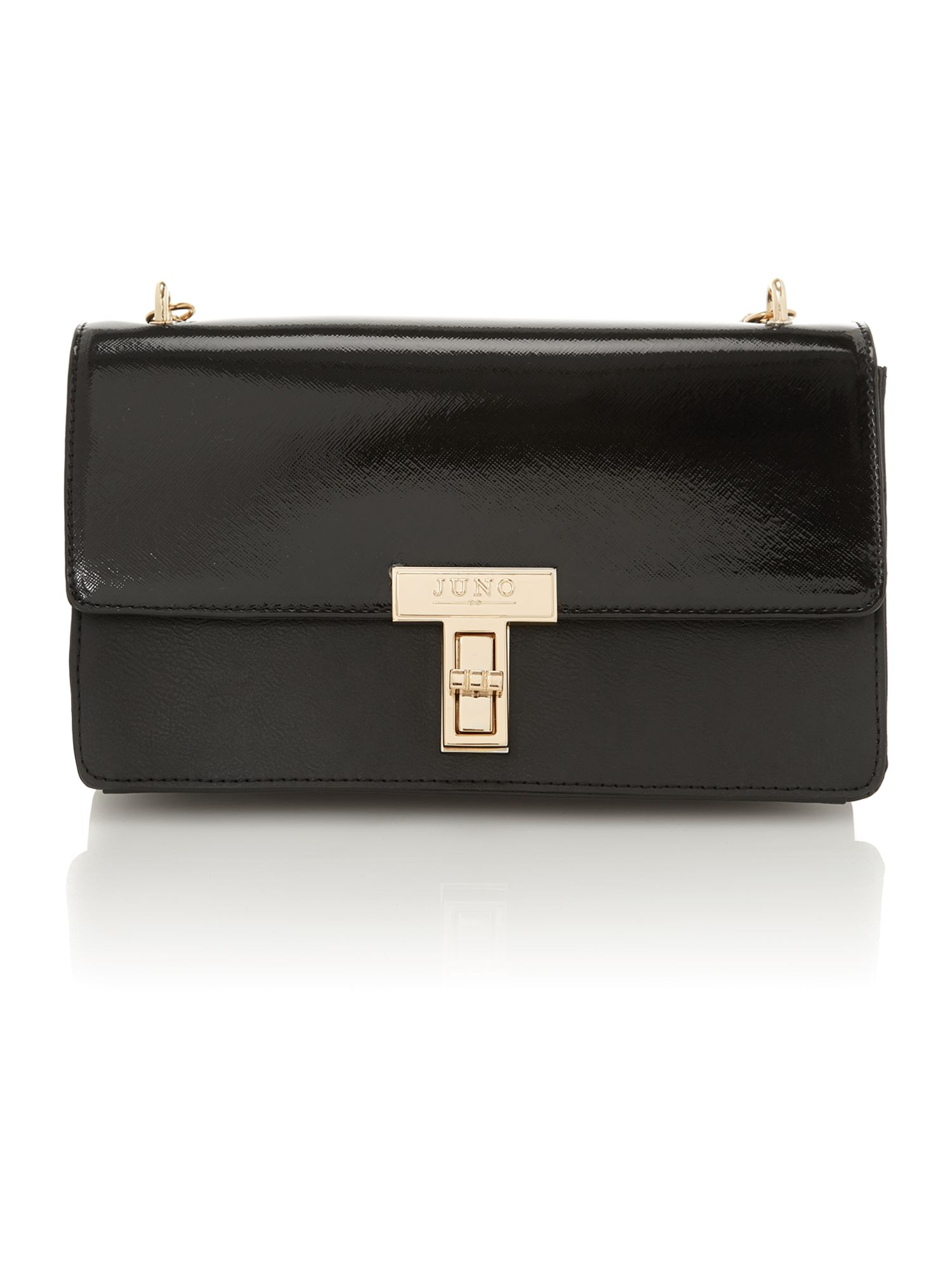 Black medium saffiano shoulder bag
