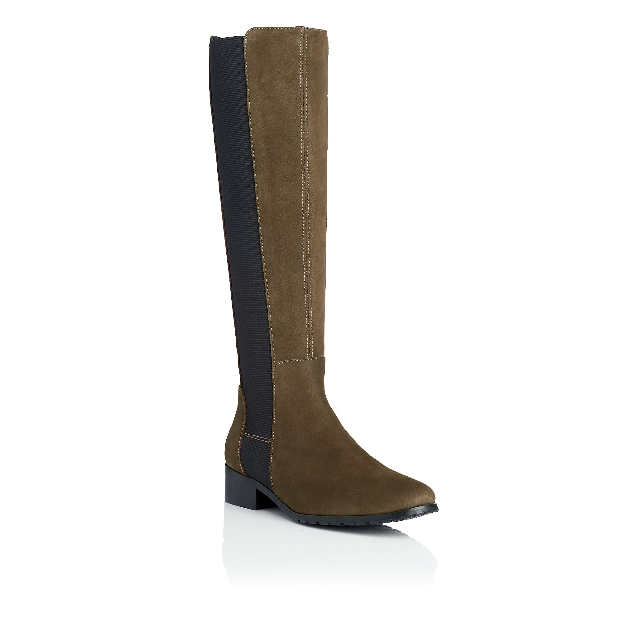 Toni nubuck leather knee high boots