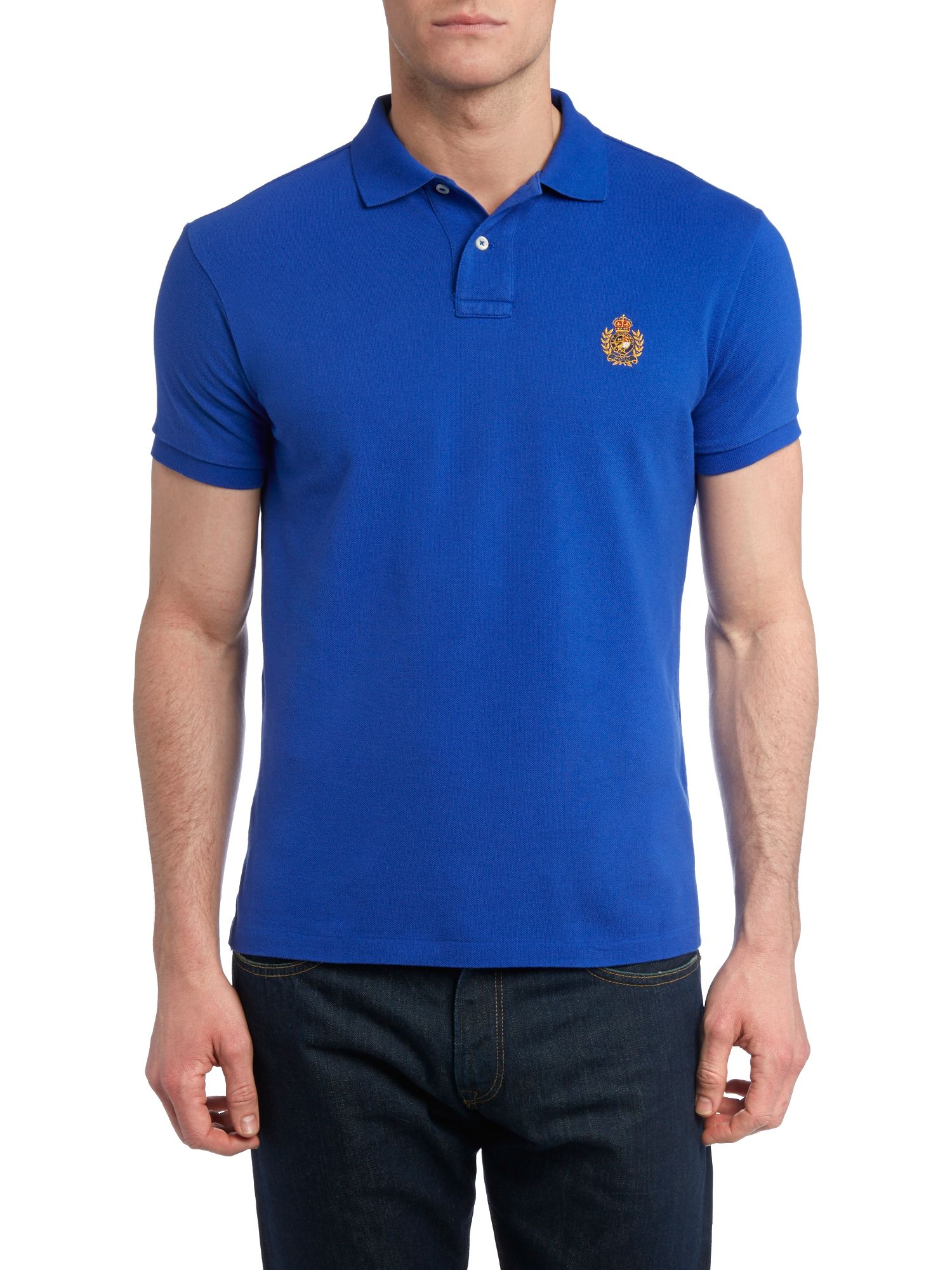 Custom fit crest pocket polo shirt