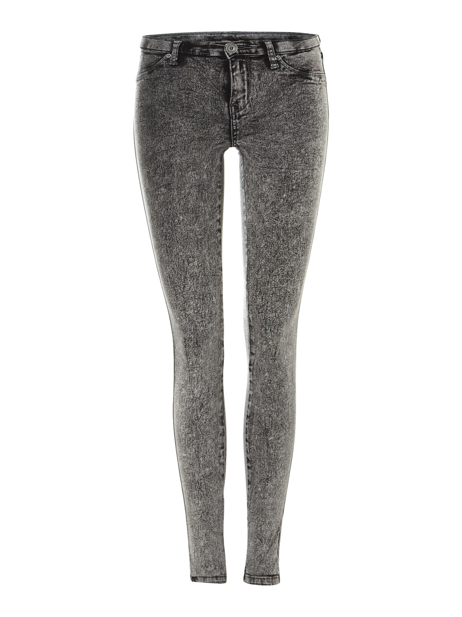 Kissy skinny jeans in Grey Acid
