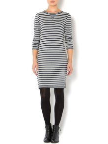 Stripe sweat dress