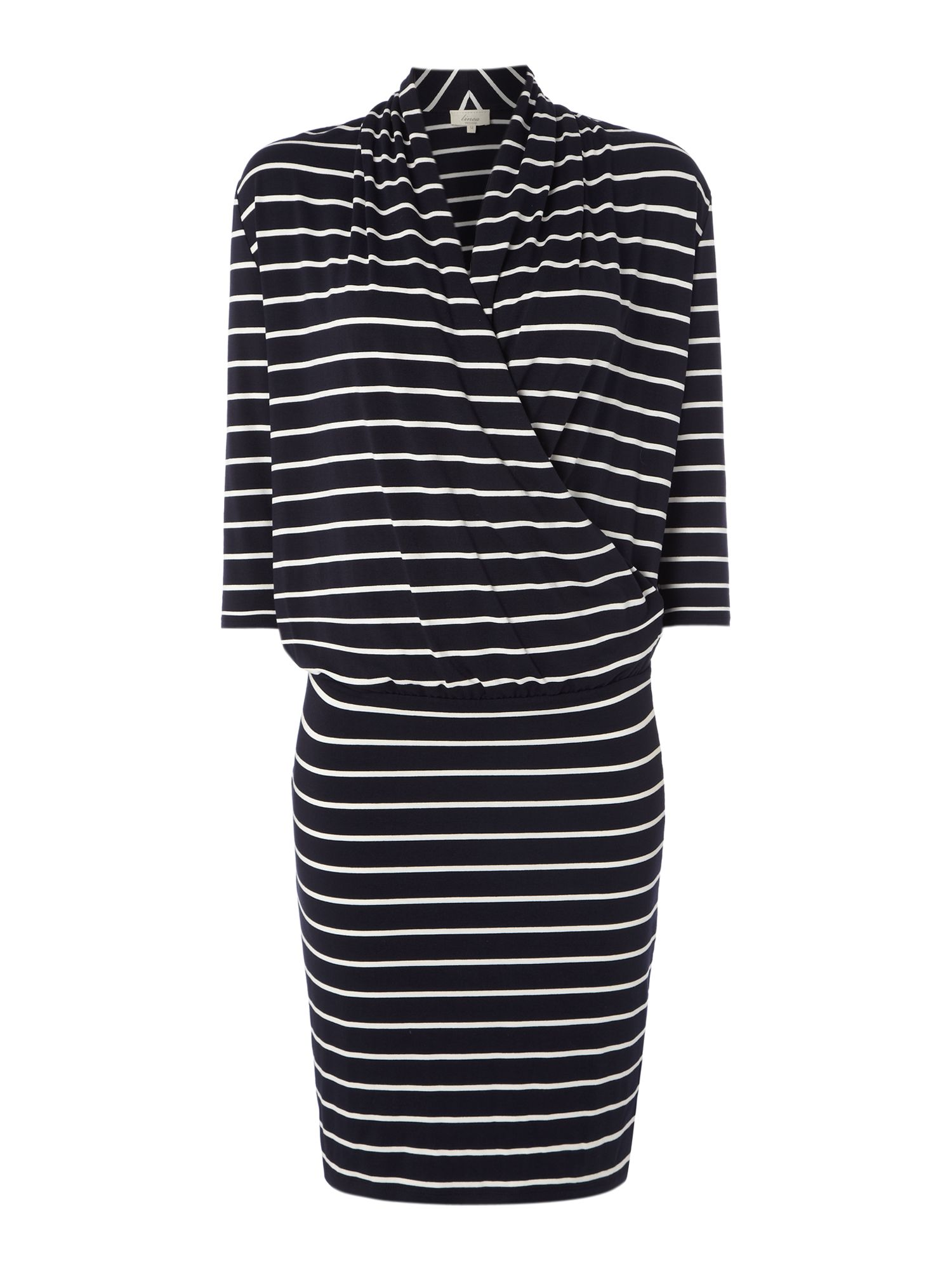 Stripe jersey wrap dress