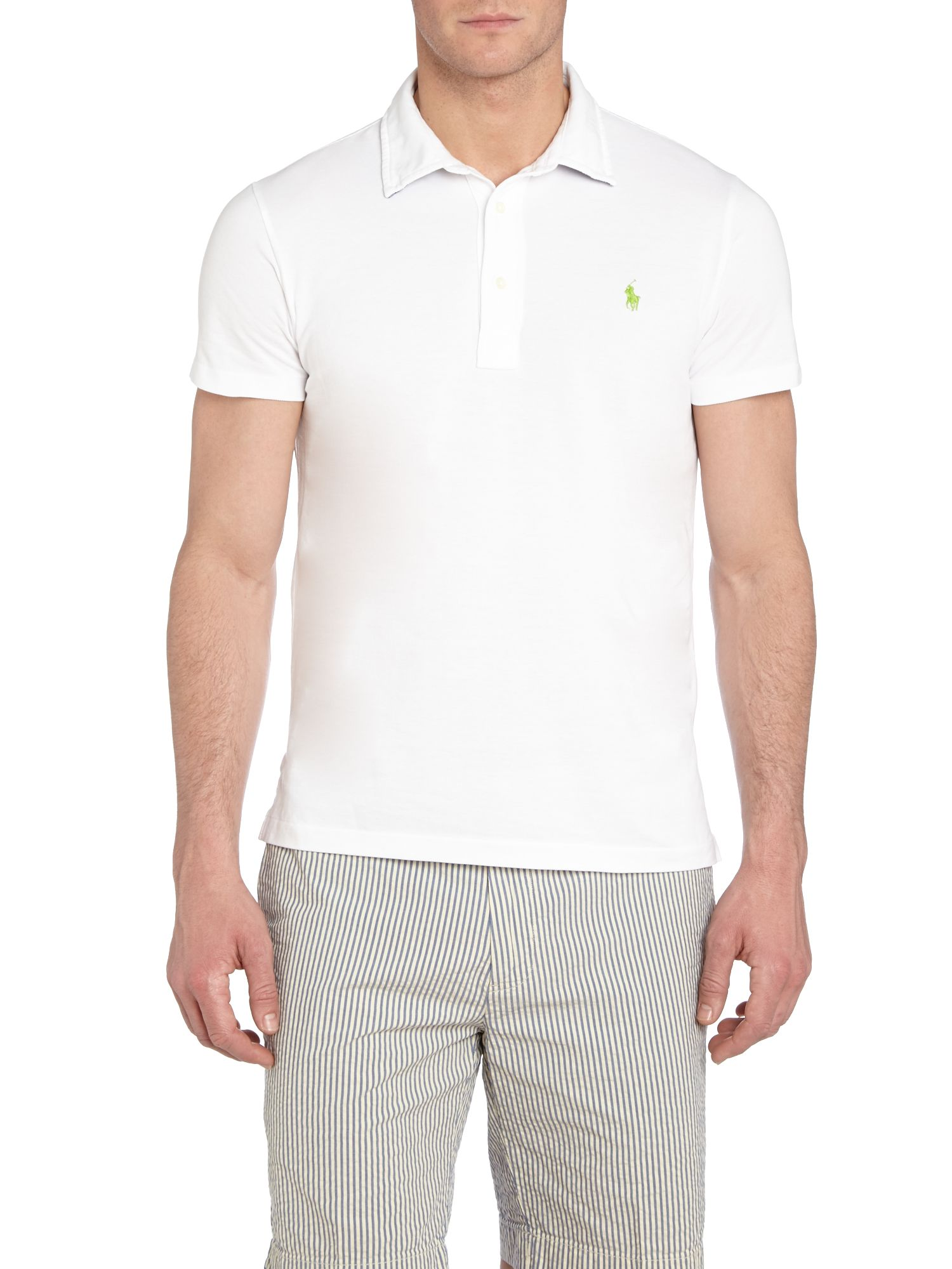 Custom gingham trim polo shirt