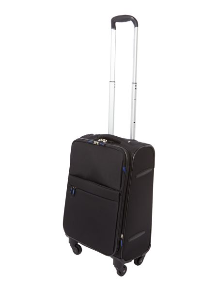 Linea Hyperlite black 4 wheel soft cabin suitcase