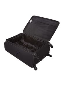 Linea Hyperlite black 4 wheel soft large suitcase